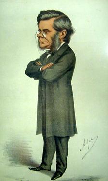 T.H. Huxley, caricature