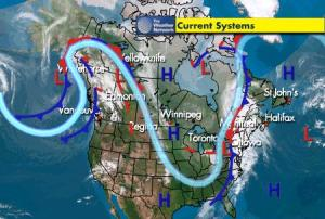 weather, current fronts, April 24, 2008