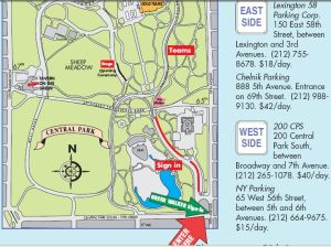 map. lower part of central park