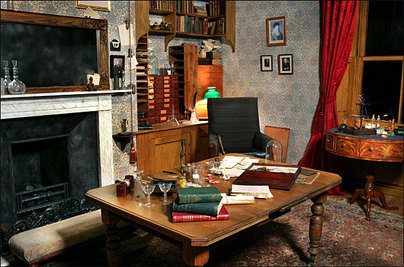 Replica of Charles Darwin\'s study at Down House