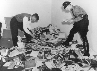 Nazis confiscating the library of the Institute for Sexual Research