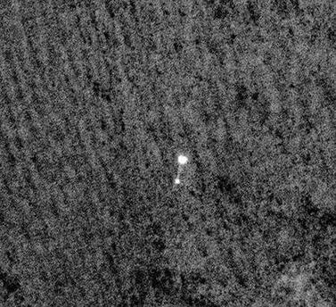 Mars Lander Phoenix on its parachute