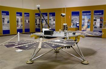 Scale model of Mars Lander Phoenix