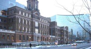 MaRS building on College St. near Toronto General Hospital