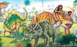 Adam & Eve & dinosaurs