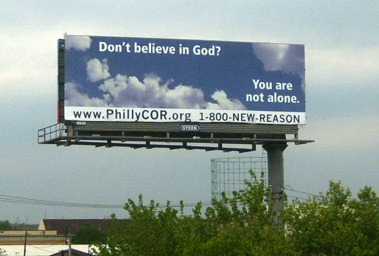 billboard for atheists