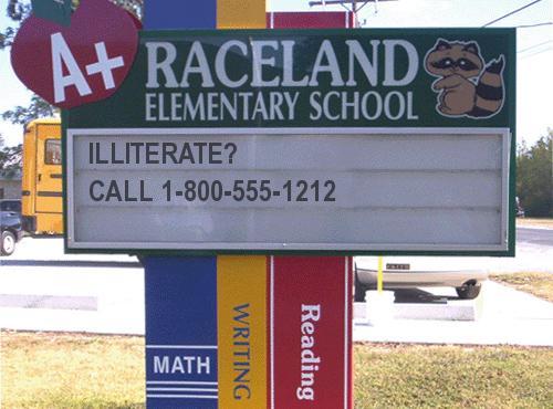 generated school sign