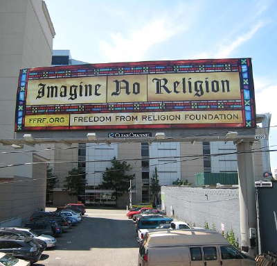 """Imagine no religion,"" how peaceful it would be"