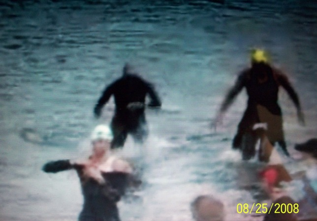 swimmers emerging from the water