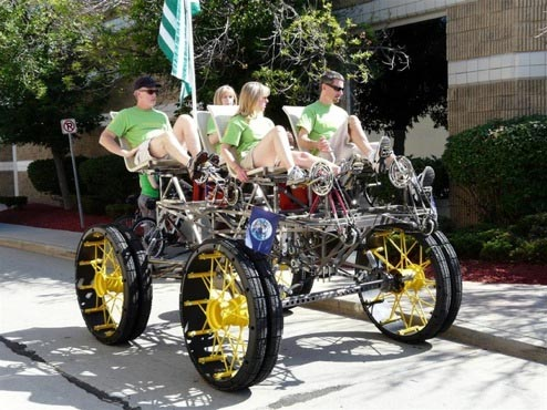 Human-powered vehicles: the quadricycle | Science Notes