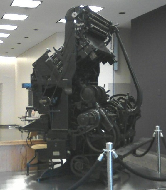 Linotype machine - obsolete typesetting machinery