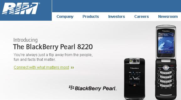 BlackBerry Pearl from Waterloo, Ontario