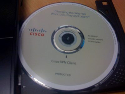CISCO VPN disk with music instead of software