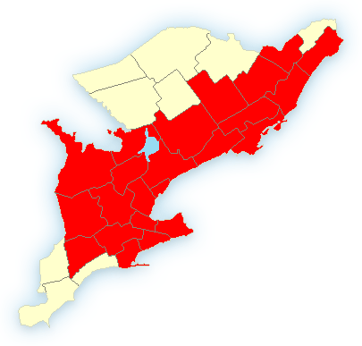 weather warnings are in red