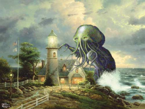 chthulu-thomas-kinkade-lighthouse
