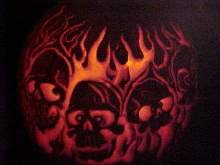 Pumpkins 2004 Skulls Flames Science Notes