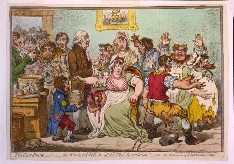 The original vaccination in the 1800s: The Cow-Pock